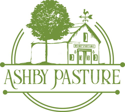 green Ashby Pasture logo of a barn and tree in a circle